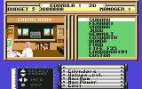 Formula 1 3D: F.1 Manager II Commodore 64 Selecting the sports car