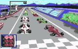 Formula 1 3D: F.1 Manager II Commodore 64 Start of the race