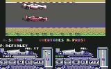 Formula 1 3D: F.1 Manager II Commodore 64 A. Senna overtakes A. Prost...