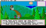 Mixed-Up Mother Goose Atari ST Having fallen down the hill, Jack's head is spinning.
