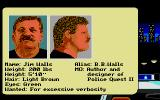 Police Quest 2: The Vengeance Atari ST Mug shot of the main designer
