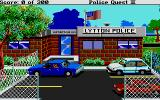 Police Quest 2: The Vengeance Atari ST Drifting into a parking spot at work