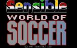Sensible World of Soccer DOS Title screen.