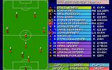 Sensible World of Soccer DOS Editing a team's tactics.