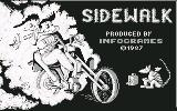 Sidewalk Commodore 64 Title Screen (UK)