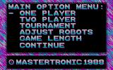 Vectorball DOS Main Menu (CGA)