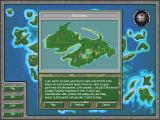 SimIsle: Missions in the Rainforest DOS Selecting an island