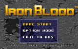 Iron Blood DOS Main menu
