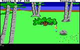 King's Quest DOS Walking along the countryside. (EGA/Tandy)