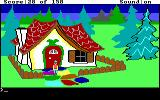 King's Quest DOS The house made out of candy. (EGA/Tandy)