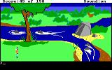 King's Quest DOS Near a raging river. (EGA/Tandy)