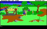 King's Quest DOS The gnome, his name is really tricky to figure out... (EGA/Tandy)