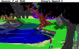 Roberta Williams' King's Quest I: Quest for the Crown DOS Nice countryside around these parts. (EGA)
