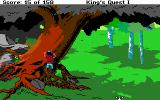 Roberta Williams' King's Quest I: Quest for the Crown DOS Graham climbs a large tree. (EGA)
