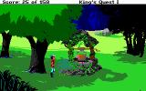 Roberta Williams' King's Quest I: Quest for the Crown DOS The well. (EGA)