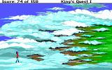 Roberta Williams' King's Quest I: Quest for the Crown DOS Graham enters the Land of Clouds. (EGA)