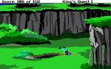 Roberta Williams' King's Quest I: Quest for the Crown DOS The bird dropped me off, ouch! (EGA)
