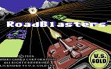 RoadBlasters Commodore 64 Title screen