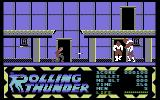 Rolling Thunder Commodore 64 The first level