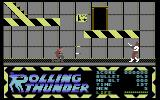Rolling Thunder Commodore 64 Ducking under a shot - you'll do this pretty often before the game is finished
