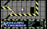 Rolling Thunder Commodore 64 Two bad guys are attacking