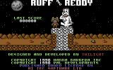 Ruff and Reddy in the Space Adventure Commodore 64 Title screen