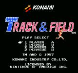 Track & Field NES Title screen