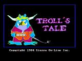 Troll's Tale PC Booter Title screen (CGA with composite monitor)