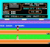 Track & Field NES Racing neck and neck