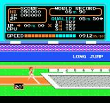 Track & Field NES Long jump