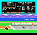 Track & Field NES Celebrating a qualifying jump
