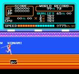 Track & Field NES Building up speed for the javelin throw