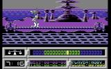 Space Academy Commodore 64 Balancing on the rope while avoiding obstacles is very difficult