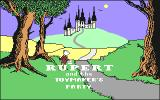 Rupert and the Toymaker's Party Commodore 64 Title Screen.