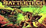BattleTech: The Crescent Hawk's Inception DOS Title screen (CGA)