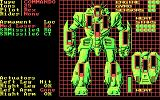 BattleTech: The Crescent Hawk's Inception DOS Mech status (CGA)