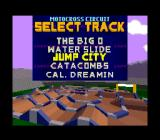 Dirt Trax FX SNES Choosing a track