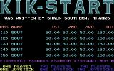Kikstart: Off-Road Simulator Commodore 64 Title and main options