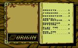 Knights of Legend Commodore 64 Main options