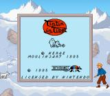 Tintin in Tibet Game Boy Title and copyright info (Super Game Boy)
