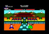 Yie Ar Kung-Fu Amstrad CPC The temple, an scenario only available in the disk version.