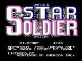 Star Soldier NES Title screen