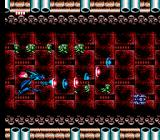 Batman: Return of the Joker NES Stage 5-2: Batman releases the charged N weapon in another shoot'em up level.