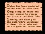 The Fantastic Adventures of Dizzy NES The opening story