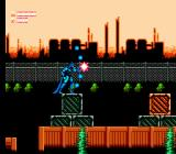 Batman: Return of the Joker NES Stage 4-1: Batman is about to release a shot from the charged C weapon.