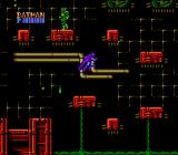 Batman: The Video Game NES Stage 2-1: Batman finds some mutants in AXIS Chemical Factory.