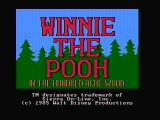 Winnie the Pooh in the Hundred Acre Wood DOS Title screen (CGA composite mode)