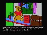 Winnie the Pooh in the Hundred Acre Wood DOS The beginning location (CGA composite mode)