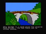 Winnie the Pooh in the Hundred Acre Wood DOS A good place to play pooh sticks (CGA composite mode)