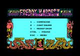 Freddy Hardest in South Manhattan Amstrad CPC Main menu